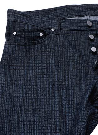 - Balenciaga - Crosshatch print jeans