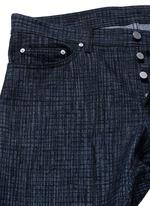 Crosshatch print jeans