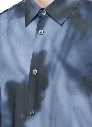 Detail View - Click To Enlarge - Balenciaga - Shadow print cotton poplin shirt