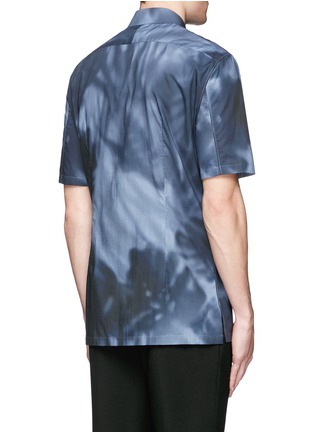 Back View - Click To Enlarge - Balenciaga - Shadow print cotton poplin shirt