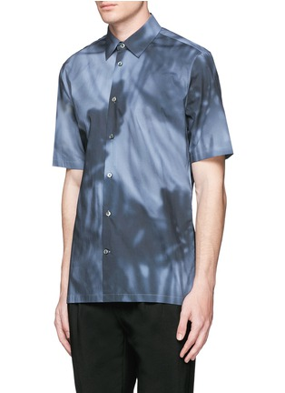 Front View - Click To Enlarge - Balenciaga - Shadow print cotton poplin shirt