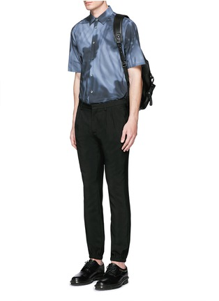 Figure View - Click To Enlarge - Balenciaga - Shadow print cotton poplin shirt