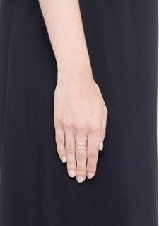 Yannis Sergakis Adornments'Charnières' diamond 18k rose gold triple band ring