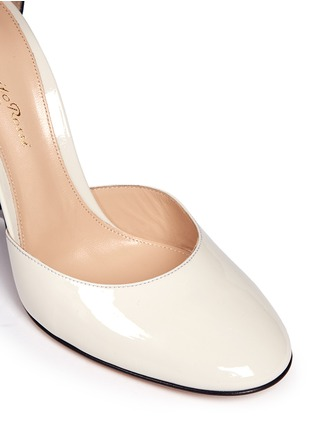 Detail View - Click To Enlarge - Gianvito Rossi - Ankle strap patent leather d'orsay pumps