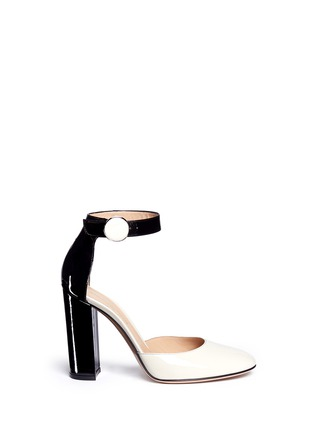 Main View - Click To Enlarge - Gianvito Rossi - Ankle strap patent leather d'orsay pumps