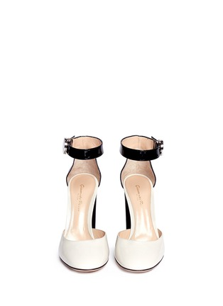 Figure View - Click To Enlarge - Gianvito Rossi - Ankle strap patent leather d'orsay pumps