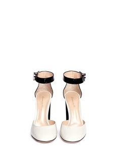 GIANVITO ROSSIAnkle strap patent leather d'orsay pumps
