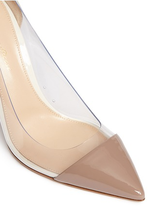 Detail View - Click To Enlarge - Gianvito Rossi - 'Plexi' clear PVC patent leather pumps