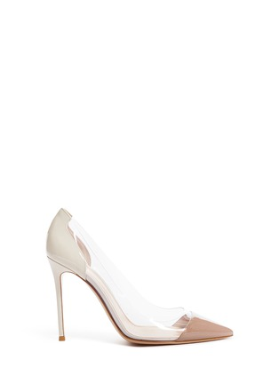 Main View - Click To Enlarge - Gianvito Rossi - 'Plexi' clear PVC patent leather pumps