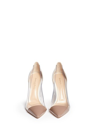 Figure View - Click To Enlarge - Gianvito Rossi - 'Plexi' clear PVC patent leather pumps