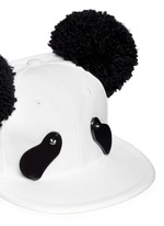 Strass eye pompom ear panda cap