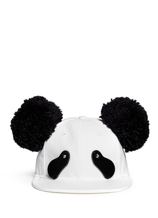 Main View - Click To Enlarge - Piers Atkinson - Strass eye pompom ear panda cap