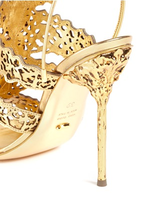 Detail View - Click To Enlarge - SERGIO ROSSI - Filigree baroque jewel laser-cut sandals