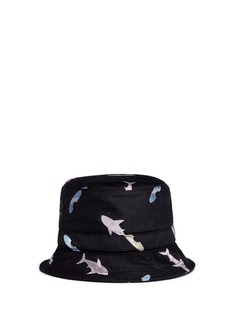 Thom Browne Shark and surfboard silk jacquard bucket hat