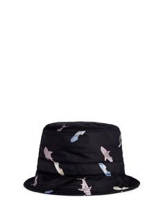 Thom BrowneShark and surfboard silk jacquard bucket hat