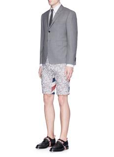 Thom BrowneFloral stripe jacquard canvas shorts