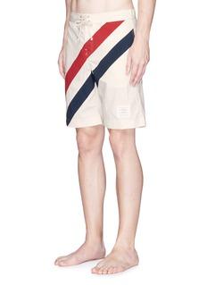 Thom BrowneStripe panel swim shorts