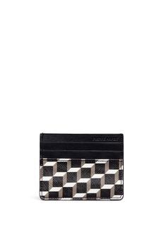 PIERRE HARDYPerspective Cube拼色立方体印花卡片套