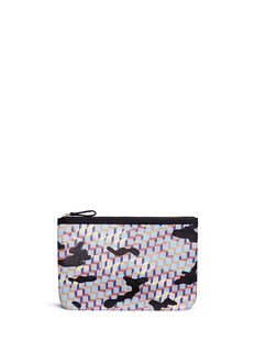 Pierre Hardy 'Camocube' print canvas zip pouch