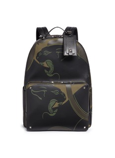 Valentino 'Camupanther' leather canvas backpack
