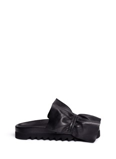 Joshua Sanders Ruffle band leather slides