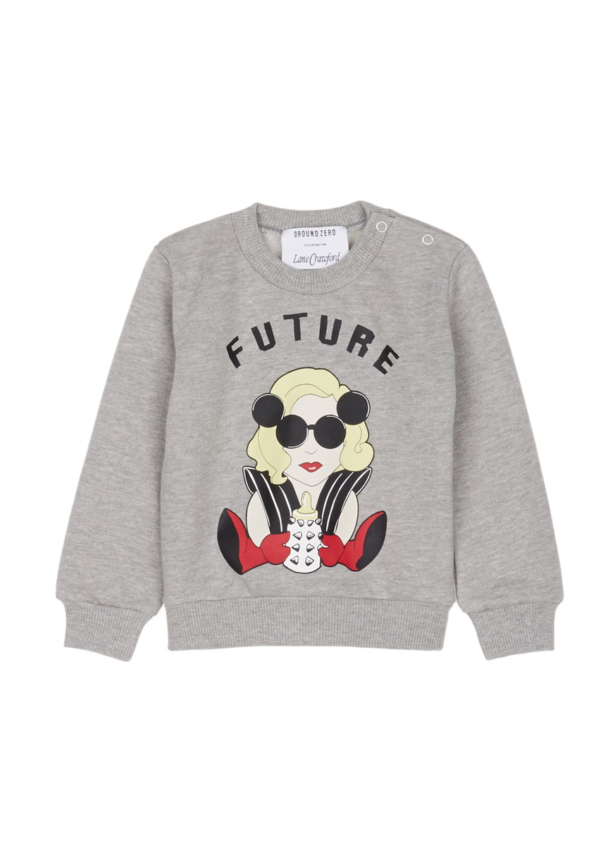 Future GAGA kids cotton sweatshirt by Ground Zero