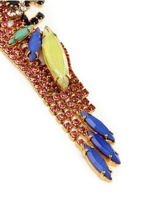 Detail View - Click To Enlarge - Elizabeth Cole - 'Paulina' Swarovski crystal parrot drop earrings