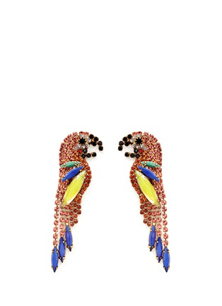 Main View - Click To Enlarge - Elizabeth Cole - 'Paulina' Swarovski crystal parrot drop earrings