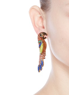 Elizabeth Cole 'Paulina' Swarovski crystal parrot drop earrings