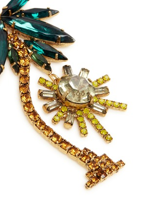 Detail View - Click To Enlarge - Elizabeth Cole - 'Pamela' Swarovski crystal palm tree drop earrings