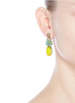 Figure View - Click To Enlarge - Elizabeth Cole - 'Ananas' pineapple drop earrings