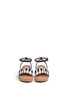 Stella Mccartney Kids'Linda' denim strap glitter piano kids sandals
