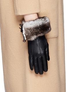 GEORGES MORANDOrylag rabbit fur kid leather gloves