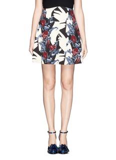CARVENFloral print crepe skirt