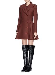 CARVENCurve pocket cinch waist wool coat