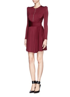 CARVEN Drape waist pleat dress