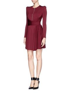 CARVENDrape waist pleat dress