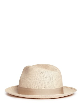 Figure View - Click To Enlarge - Borsalino - 'Quito' grosgrain bow straw Panama hat