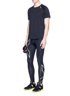2Xu'GHST' mesh jacquard performance T-shirt