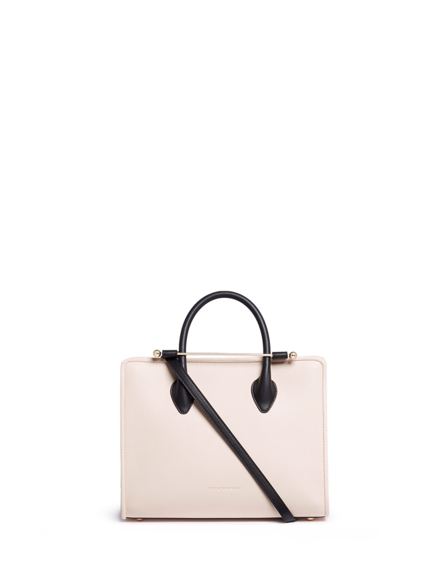 The Strathberry Midi colourblock leather tote by Strathberry