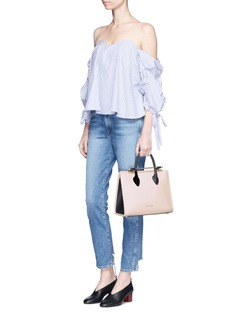 Strathberry'The Strathberry Midi' colourblock leather tote