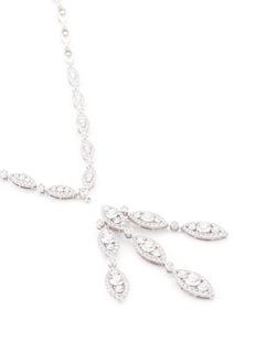 Lazare Kaplan 'Marquiselle' diamond 18k white gold pendant necklace