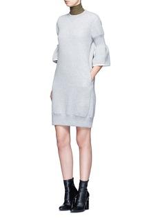 SacaiCinched sleeve sweatshirt dress