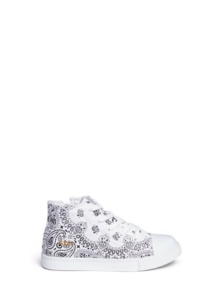 Main View - Click To Enlarge - AKID - 'Anthony Hi' bandana print canvas high top kids sneakers