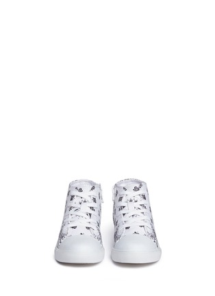 Figure View - Click To Enlarge - AKID - 'Anthony Hi' bandana print canvas high top kids sneakers