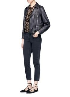 alice + olivia'Deandrea' leopard print devoré velvet T-shirt