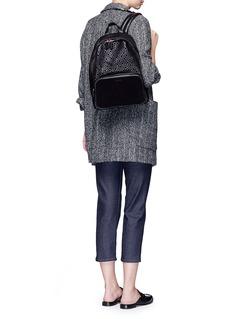 MischaHexagon print coated canvas backpack