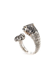 John Hardy Sapphire spinel topaz silver Macan bypass ring