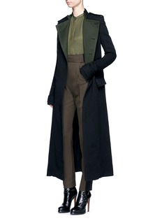 Haider Ackermann Wool linen blend trench coat