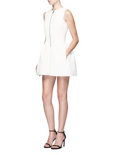 Maticevski 'Mixtec' textured flare cocktail dress